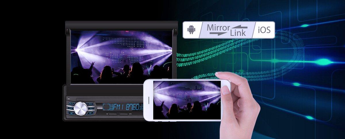 Możliwość wyświetlania obrazu z telefonu za pomocą kabla