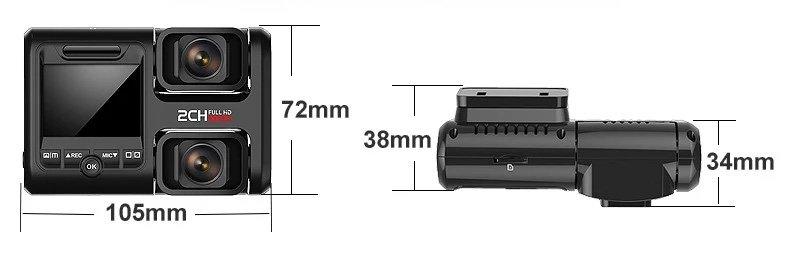 Nie wielkie urządzenie z możliwością nagrywania wewnątrz pojazdu i zewnątrz