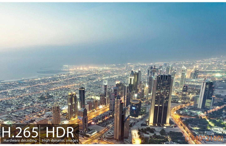H.265. Obsługa ultra HD 4k z @60fpsdla dla HEVC 10bit: 2160p.