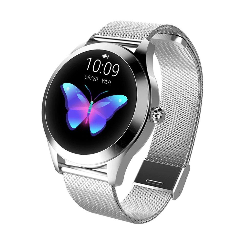 Smartwatch damski KW10 srebrny