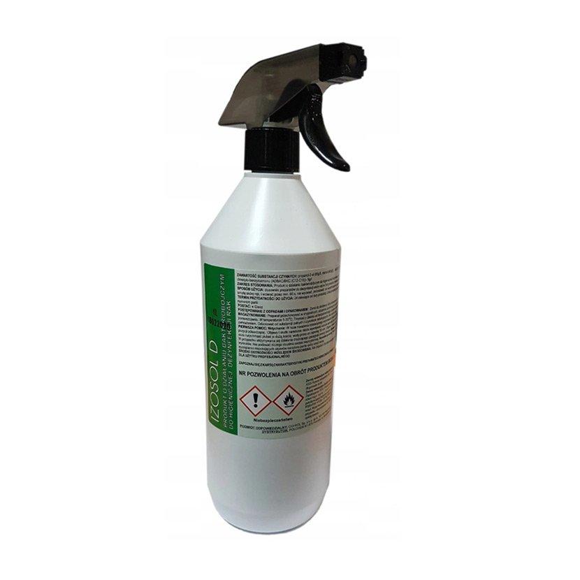 IZOSOL 1L Płyn biobójczy do dezynfekcji rąk spray