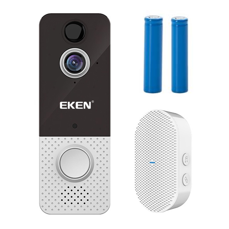 Dzwonek bezprzewodowy Wi-Fi EKEN Video Doorbell T8 + odbiornik